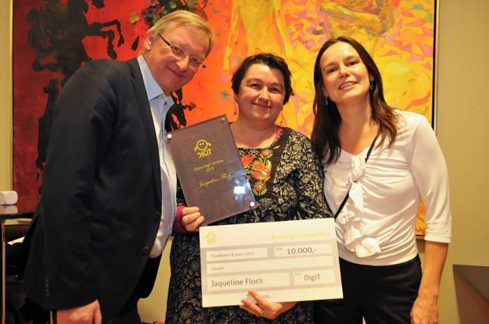 Rolf Dyrnes Svendsen, Jaqueline Floch og Letizia Jaccheri.