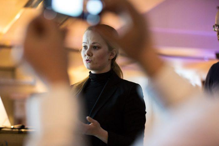 Vinneren av pitchekonkurransen; Contextual, her ved Marit Rødevand